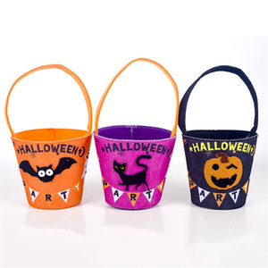 Halloween Candy Bag Felt Trick Halloween ou Treat Sac bonbons stockage enfants feutre non tissé bonbons stockage cadeau Pouch DHA1100