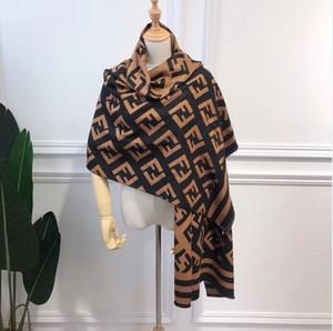 Модный новый кашемир двойной - двусторонний леди шарф простое письмо универсальны FF шаль оптовой