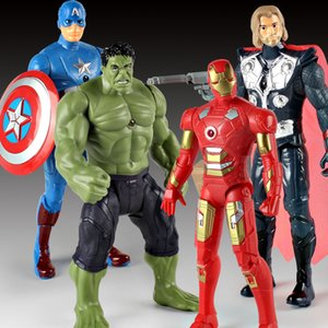 18cm Marvel Super Heroes Hulk Avengers Captain America Iron Man Thor PVC Action Figure Collection Model Toy for Children Christmas Gift