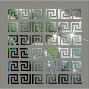 30PCS 5 * 5CM DIY 허리 라인 3D 미러 스티커 현대 아크릴 벽 장식 룸 장식 벽 스티커 어린이 객실 거실