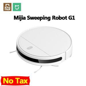 Xiaomiyoupin MIJIA مي كنس التطهير روبوت مكنسة كهربائية G1 للمنزل اللاسلكي غسل 2200PA الإعصار شفط الذكية المخططة WIFI