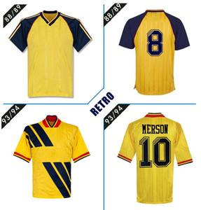 1993 1994 Arsen прочь # Мерсон 10 # РАЙТ 8 Adams Томас ретро футбол Джерси 1986 1988 классические марочные футбол рубашки