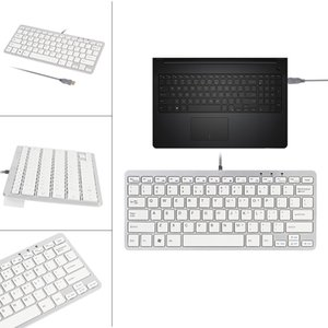 Nuevo teclado USB ultra fino adelgaza 78 Clave Wired Mini PC para PC Apple Mac portátil