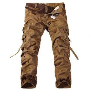 Мужские брюки Комбинезон Panta Длинные брюки Мужчины Beaggious Повседневная Хлопок Многие карманы Мужские днища плюс размер 38