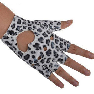 Newly Women PU Leather Motorcycle Bike Car Fingerless Performance Gloves DOD886