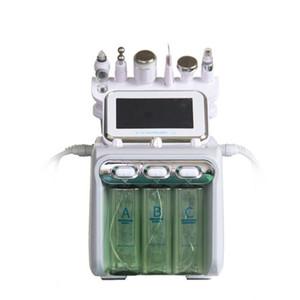 6en1 H2 O2 Hydra dermoabrasión Peeling facial de limpieza profunda para Spa burbuja pequeña herramienta anti arrugas de la máquina Wrap