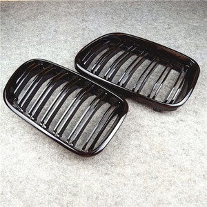 L & R Car ABS Black Front Mesh Grill Grille For B-MW X3 X4 F25 F26 2010-2013 Carbon Fiber