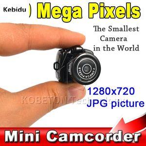 Y2000 200W Micro Portable Camera HD CMOS 2.0 Mega Pixel Pocket Video Audio Digital Mini Camcorder 640*480 480P DV DVR 720P