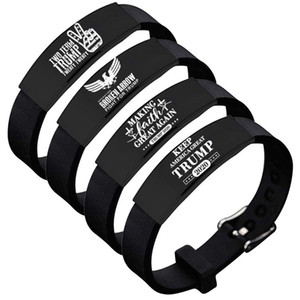 Donald Trump Keep America Große Armband Silikon-Armband Edelstahl-Armband-justierbares Armband Inspiration Motivations-Armband