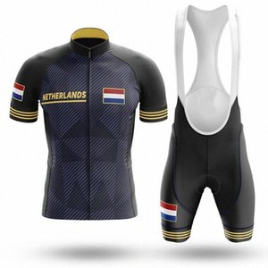 New Netherlands Pro Cycling Jersey set Summer Breathable MTB Bike Clothes Short Sleeve Bicycle Clothing Ropa 8KMG#
