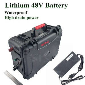Литий 48V 60Ah Аккумулятор 40Ah 50Ah 2500W Электрический велосипед BMS 48v литий самокат Ebike EV подвесным + 10A Зарядное устройство