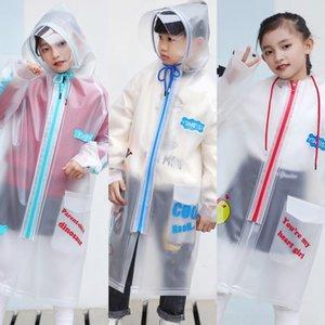 YY68X 78Ii2 Kinder Studenten Mantelmantel tpu Regenmantel Kindergarten Mädchen mit Schulranzen Primary School Tasche wasserdicht transparent childr