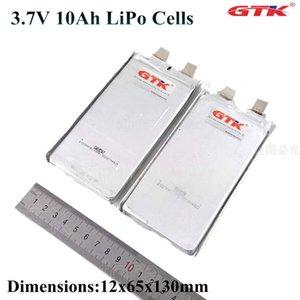 Satış 40pcs diy elektrikli bisiklet için lipo hücre 3.7v 10Ah li polimer pil bateria 30A lityum GTK