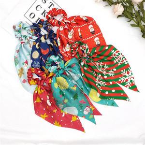Fasce Le donne di Natale della neve dei capelli nastri elastici capelli anello Designers Coda di cavallo Supporto elastico ragazze Scrunchies Hairbands Accessori D82010