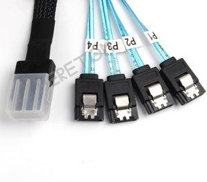 4x SATA 7-Pin F İleri Koparma Kablo için 3 ft İç Mini SAS (SFF-8087) M