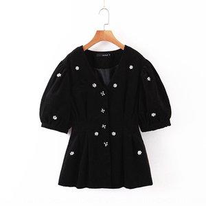 artesanal top bolha frisado manga de veludo elegante + alta cintura elástica Jacket frisada Wick Wick emagrecimento terno saia saia