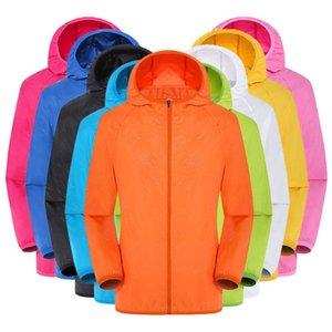 Casual Sun Protection 2020 le donne del nuovo cappotto degli uomini Abbigliamento Giacche antivento ultraleggero antipioggia Windbreaker DropshipJGH5