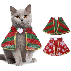 Christmas Pet Cat Cosplay Cloak Adjustable Pet Cloak Comfy Funny Cat Dog Clothing for Christmas Halloween Costume Party Props