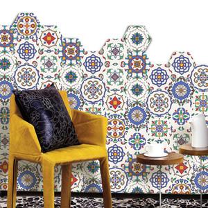 23*20CM 10pcs set Eco-friendly floor sticker for wall Waterproof Morocco Style FloorPaste Skid-proof Film Wall art Stickers decor