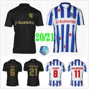 2020 2021 SC Heerenveen Futbol Formalar 100. Yıl Faik Veerman Kongolo Dresevic Custom 20 21 Deplasman Futbol Gömlek Üniforma