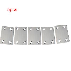 5pcs Brace Straight Brace Brace Bracket Stacket Unisciti a piastre di riparazione in acciaio inox