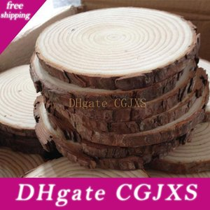 Новый дизайн 3 Для 15см природы Pine Wood Chip Полированная Основа Handmake Craft Mini Micro Озеленение Главная украшения сада аксессуары