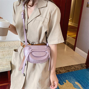 Brand Original Design Bag for Women 2020 New Joker Shoulder Messenger Bag Stone Pattern Saddle