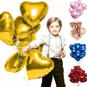 25 Pezzi 18 pollici Foil forma di elio cuore Balloons Birthday Party Decorazioni del Ballons Accessori