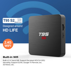 T95 S2 TV BOX Android 7.1 Smart TV Box 2GB 16GB Amlogic S905W Quad Core Set top box 1GB 8GB T95S2 Player