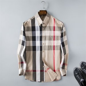 Brand Herren Business Casual Shirt Herren Langarm Gestreifter Slim Fit Camisa Masculina Social Male Shirts Neue Modedesigner Plaid Shirt 235