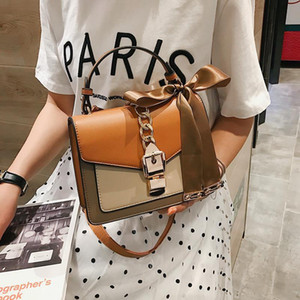 #001 #01 Bag Women's 2020 New Style Women's Bag Cool Square Fashion Shoulder Messenger