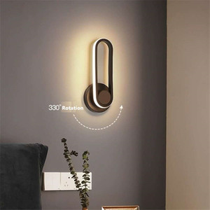 Nordic revolving wall ligth bedroom simple modern bedside led lamp creative personality living room study wall aisle lighting RW446