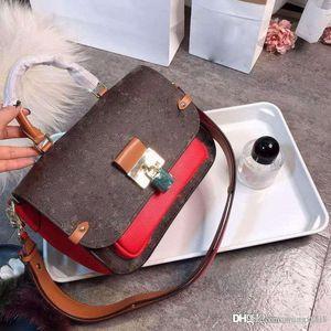 Высокое качество старый телячьей декоративный край цвет, соответствующий мешок женщин, с большим замком модно все вокруг Почтальон мешок handba