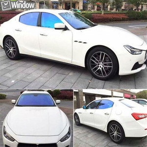 SUNICE 1.52*10 20 30m Blue Chameleon Effect, Car Window Tint, Solar+UV protector Protective Shading Film, Auto Home Tinting