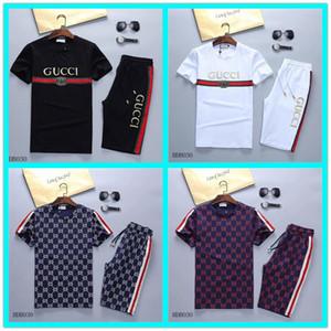 5 piezas de DHL Hombres sistemas de la ropa diseñador ropa deportiva de juego de los deportes suéter casual para hombre otoño de manga corta de impresión chándales de verano