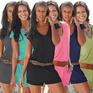 Frauen Playsuit O-Ausschnitt Kurzarm Bodycon Kurzschluss-Overall Overalls Sexy Nachtclub Anzug Partei Body Playsuit