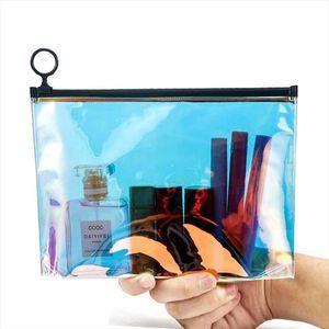Fashion Paillette Transparent Cosmetic Bag Travel Zipper Make Up Case Organizer Storage Makeup Pouch Toiletry Beauty Wash Kit
