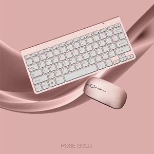Teclado inalámbrico 2.4G ratón inalámbrico Multimedia Oficina del teclado del ratón Ajuste para el cuaderno del ordenador portátil Mac Office Supplies TV PC de escritorio