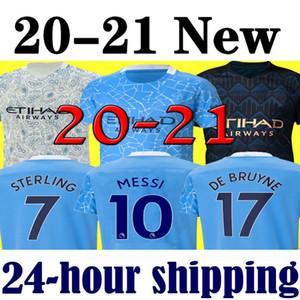 Messi  Manchester City 2021 man XXXL 4XL 19 20 maillot de football 2019 2020 ville JESUS DE BRUYNE AGUERO KUN Maillot de foot Camiseta MENDY SILVA MAN uniformes shirt manchester