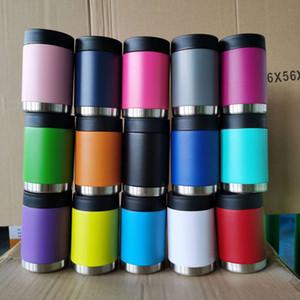 12 oz muitas cores Coke latas garrafa de água de aço inoxidável Copos Canecas Milk Vacuum Cup com tampa