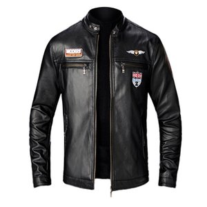 KANCOOLD 2020 NUEVO para hombre Otoño Invierno Hombre chaqueta de cuero de la motocicleta del motorista soporte collar abrigos chaquetas de cuero de 824 Jaqueta