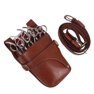 Bel ile Saç Makas Kılıfı Kılıfı Kuaförler Berber PU Deri Makas Kuaförlük takım çantası Çanta Holder Belt Omuz