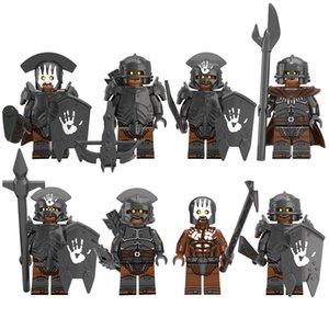 El Señor de la mini figura de acción de juguete bloques de construcción de los anillos gran soldado orcos Uruk Hais comandante de infantería Archer Chamán Guerrero