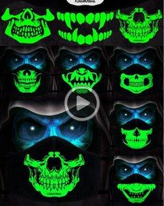 1Pcs Хлопок пыл РМ2,5 Аним мультфильм отсутствие маски Mout Женщина Мужчина ночных Glow В Dark Skull Mout Маски Альф Муфельная Fa Маски Брэда