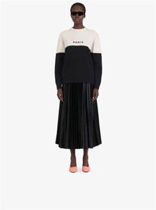 Bayan Triko 20 Sonbahar Yeni Geliş Moda Kadın Uzun Tişört High Street Eleman Kadınlar Giyim 2-Stil Seç
