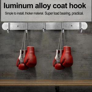 Coats Door Clothes Mounted Self Home Adhesive Hooks Holes Wall 3 4 5 6 7 Hooks Wall Towel Hat Row Kitchen Hanger Ecgtn