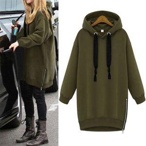 Black Green Oversized Spring Autumn Women Long Sleeve Hooded Loose Casual Warm Hoodies Sweatshirt Plus Size S-3XL