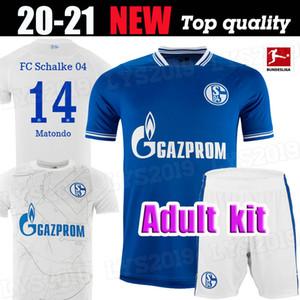 kits Hommes 20 21 maillots de football Schalke 04 2021 2020 mis la maison loin SERDAR OZAN Harit Raman BENTALEB MC Kennie chemises de football KUTUCU