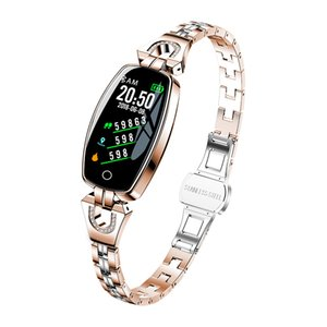 DZLST Smart Watch Women New Fashion Metal Clock Heart Rate Blood Pressure Monitor SmartWatch For IOS Android Smart Watches