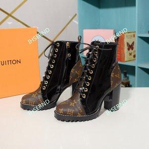 Louis Vuitton 2020 nouvelles dames bottes mode chaussures dames en cuir tendance de luxe accessoires de luxe sentier cheville femmes bottes haut talon